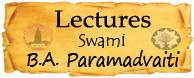 Bhakti Aloka Paramadvaiti Lectures Swami B.A. Paramadvaiti  english vrinda