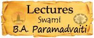 Bhakti Aloka Paramadvaiti Lectures Swami B.A. Paramadvaiti  english vrinda
