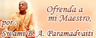 Prabhupada, ofrenda, maestro, Paramadvaiti